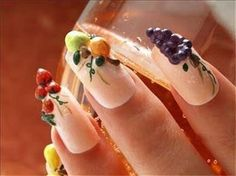 Tutti fruitti  #nails #3d nails #nail art