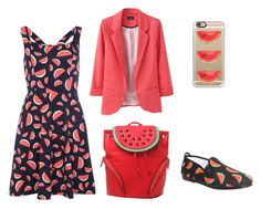 """""""watermelon clothes"""" by inutile-monde ❤ liked on Polyvore featuring art"""