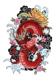 Japanese old dragon for t… hand drawn Dragon tattoo ,coloring book japanese style.Japanese old dragon for tattoo. Traditional Asian tattoo the old dragon vector. Dragon Tattoo Colour, Dragon Tattoo Designs, Tattoo Designs Men, Asian Dragon Tattoo, Dragon Tattoo Background, Dragon Tattoo With Flowers, Dragon Tattoo Vector, Dragon Tattoo Drawing, Japanese Tattoo Designs