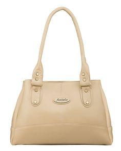 Fostelo Women's Elite Shoulder Bag (Beige) (FSB-737)