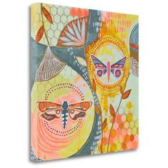 Tangletown Fine Art 'Uncontained' by Jessica Swift Painting Print on Wrapped Canvas