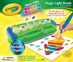 Amazon.com: Crayola Color Wonder Magic Light Brush with Metallic Paper: Toys & Games