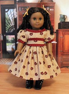 1850s Dress for 18 Inch Dolls like Cecile or Marie by BabiesArtUs, $55.00