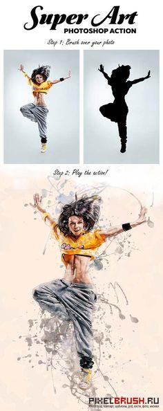 GraphicRiver Super Art - Photoshop Action
