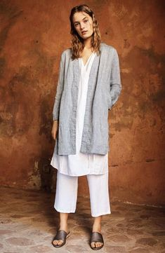 Eileen Fisher Jacket, Vest & Pants Outfit with Accessories