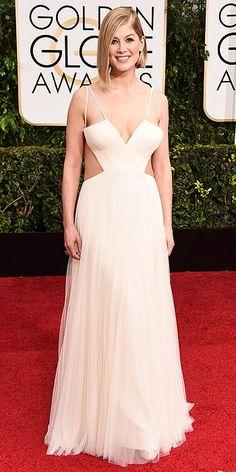 Golden Globes 2015: Rosamund Pike in Vera Wang