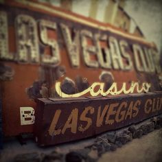 Las Vegas Club vintage neon sign