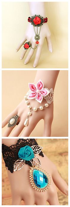 Bracelets for the brides. With rings and pendants, these babies will make a bride look more stunning!