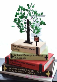 Law books and tree cake!
