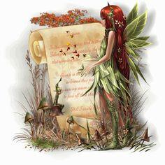 Fairy Friends 10 - Autumn Fae - Animated Fantasy Art - The Fairy Realm