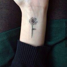Small Sunflower Tattoo On Wrist...                                                                                                                                                                                 More