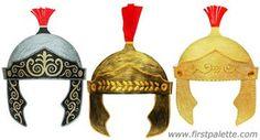 Op deze Engelstalige website vind je informatie om een Romeinse helm te knutselen.