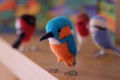 Tortle Art Birds Needle-felted little cute friends. Made to