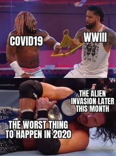 Wrestling Memes, Alien Invasion, Shit Happens