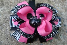 Large+Minnie+Mouse+Hair+Bow+Boutique+Hair+Bow+by+MyLuckyHairBow,+$9.50