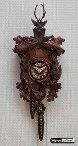 Geschnitzte Schwarzwälder Kuckucksuhren Kuckucksuhr 1-Tag-Uhrwerk geschnitzt 29cm von Hekas