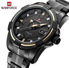 Watches Men NAVIFORCE Brand Full Steel Army Military Watches Men's Quartz Hour Clock Watch Sports Wrist Watch relogio masculino