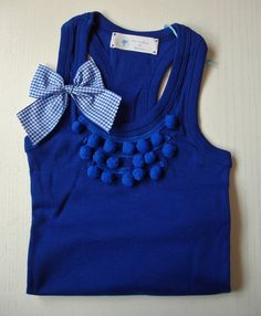 little girls tank top with bow and necklace effect T Shirt Diy, My T Shirt, Diy Fashion, Fashion Dresses, Womens Fashion, Diy Sac, Diy Vetement, Diy Mode, Lace Headbands