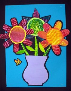 """From exhibit """"Painted Paper Flower Vases"""" by Marie359"""