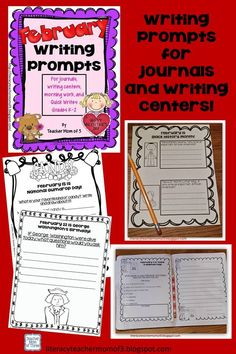 Writing prompts for the whole month of February! Just print and write!