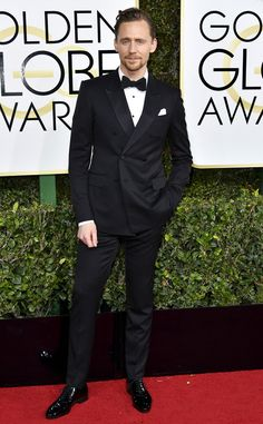 Tom Hiddleston from 2017 Golden Globes Red Carpet  In Gucci