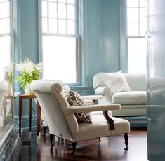 pale blue rooms | pale blue living room