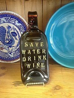 Save Water Drink Wine Bottle Plate Spoon Rest by DaWineLady, $19.99