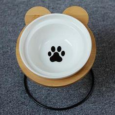 New High-end Pet Dog Bowl Bamboo Shelf Ceramic Food Jar, Food Bowl, Bamboo Shelf, Easy Eat, Pet Feeder, Ceramic Animals, Dog Feeding, Pet Bowls, Ceramic Bowls