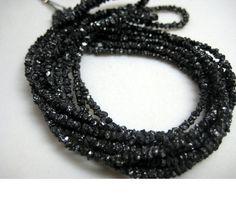 Black Rough Diamonds Black Raw Diamond Beads by gemsforjewels