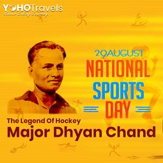 We pay our tributes to the hockey magician and legend on his birth anniversary and Let's pledge to make sports a part of our everyday life. Dhyan Chand, National Sports Day, Virat Kohli, Galaxy Wallpaper, The Magicians, Cricket, Hockey, Ale, Birth