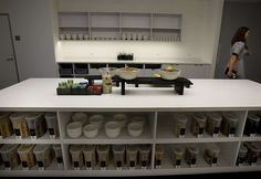 One of the kitchens at Square, whose offices also include a coffee bar Tuesday…