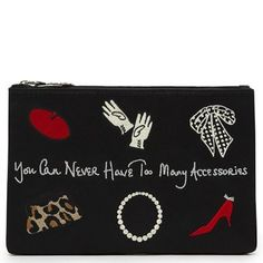 f78b172e2af17 buy your Lulu Guinness Black Too Many Accessories Top Zip Womens Purse  today from daniel footwear. a wide range of womens designer purses  available from ...