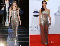Lucy Liu In Versace – 2012 Emmy Awards