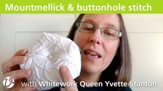 In this episode of White Threads Floss Tube, Yvette Stanton talks about Mountmellick embroidery. She shows her Dogrose and Honeysuckle Mountmellick Doily, an. Jeans Fabric, Embroidery Needles, Pomegranate, Doilies, Stitching, Projects, Costura, Log Projects, Granada