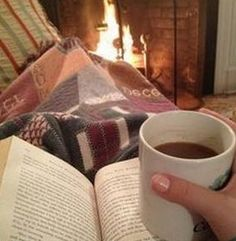 Fire ~ coffee ~ and a good book...sigh
