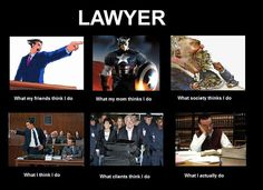 What people thinks Lawyer do.