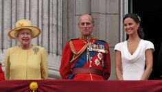The Queen, the Duke of Edinburgh and Pippa Middleton