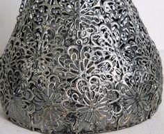Industrial 21cm Hanging Lamp Lantern - Silver