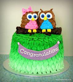 Baby Shower - Owl themed babyshower cake!