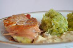 Voici un petit plat assez rapide, très simple et tout simplement délicieux. pour 4 personnes : 1 ou 2 filets mignons (en fonction de leur taille) 6-8 tranches de jambon sec assez fines quelques feuilles de sauge 2 échalotes moutarde poivre, sel facultatif...