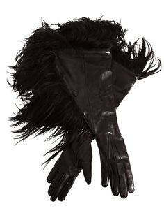 Goat fur gloves, Ann Demeulemeester Fall 2011