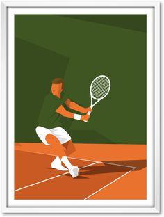 ROLAND GARROS/TENNIS/SPORT/PARIS/ILLUSTRATEUR Tennis Tops, Sport Tennis, Hockey, Tennis Posters, Tennis Photography, Coffee Cup Art, Tennis Photos, Health Icon, Deco Paint