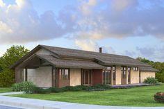 Plano de casa para familia tipo con 3 dormitorios, 2 garajes y 157 m2