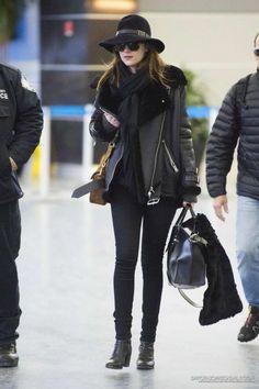 Dakota at JFK Airport Back to NYC!! #DakotaJohnson