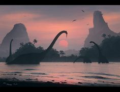 Nature of the Jurassic Period, Nikolay Razuev on ArtStation at http://www.artstation.com/artwork/nature-of-the-jurassic-period