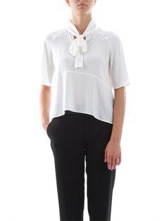 Camicia Donna Bianca Codice: CA9033555 Stilista: Elisabetta Franchi Taglie disponibili: 40, 42,44 Colore: Avorio Manica: Corta Occasione: Elegante