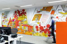 Cool Artwork Livens Up Call Center to Inspire Bank Staff