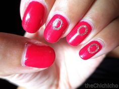 Pink and Gold Oval Frame | chichicho~ nail art addicts