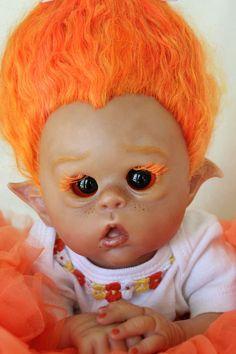 """reborn baby doll Ofelia elf TROLL """"Marigold""""  My Sweet Baboo"""