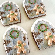 Cute Christmas Cookies Edition] - Blush & Pine Creative Cute Christmas Cookies For 2018 – Blush & Pine Cute Christmas Cookies, Iced Cookies, Christmas Sweets, Christmas Gingerbread, Noel Christmas, Cookies Et Biscuits, Holiday Cookies, Christmas Baking, Christmas Recipes